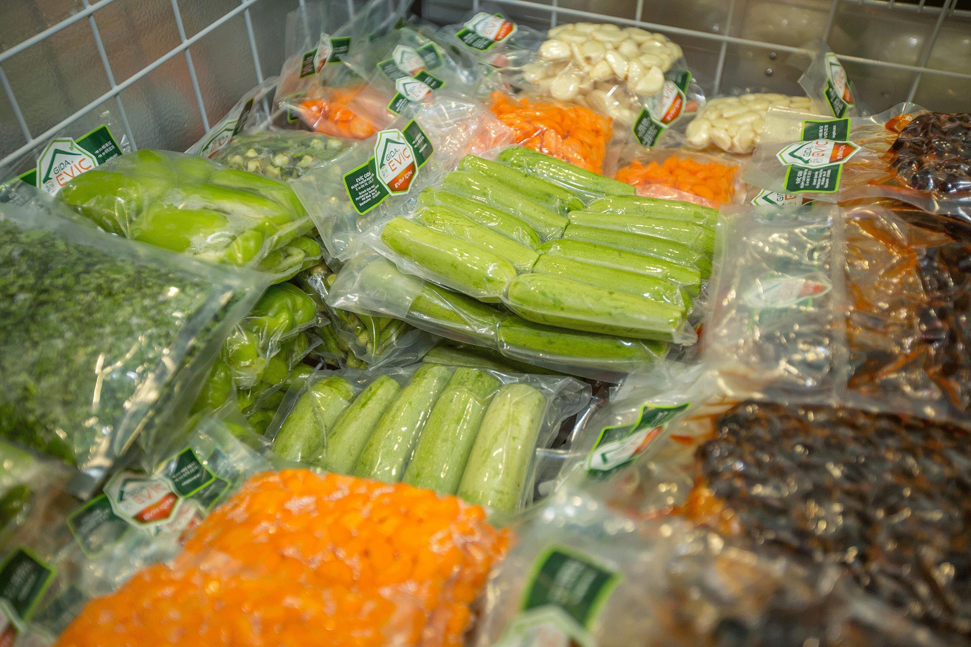 Hazır sebze bölümü